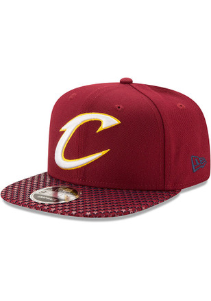 New Era Cleveland Cavaliers Maroon Multi Star 9FIFTY Snapback Hat
