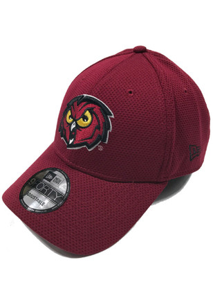 New Era Temple Owls Mens Red 9FORTY Adjustable Hat