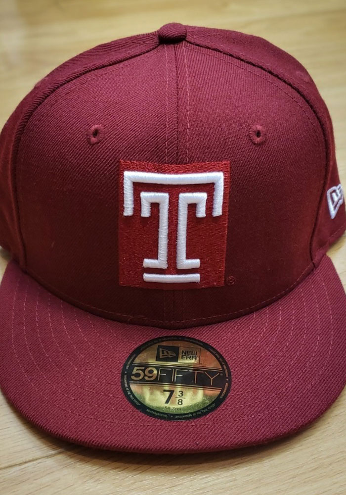 New Era Temple Owls Mens Cardinal 59FIFTY Fitted Hat - Image 2