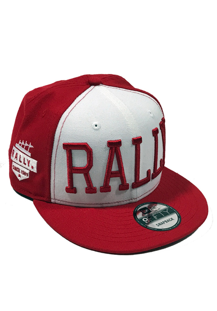 New Era RALLY Red 9FIFTY Mens Snapback Hat - Image 1