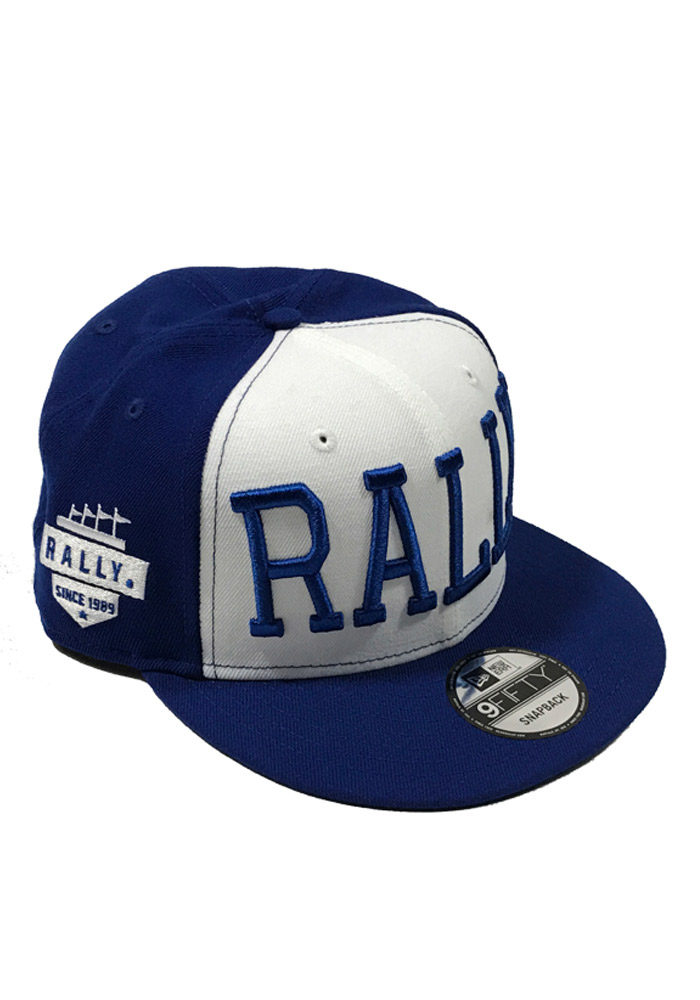 New Era RALLY Blue 9FIFTY Mens Snapback Hat - Image 1
