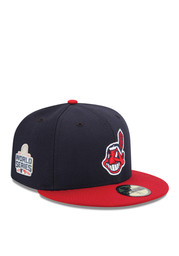 Cleveland Indians New Era Mens Navy Blue 2016 World Series Side Patch 59FIFTY Fitted Hat