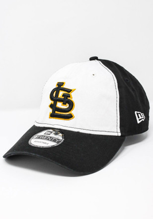 New Era St Louis Cardinals Mens Black Co Branded 9TWENTY Adjustable Hat