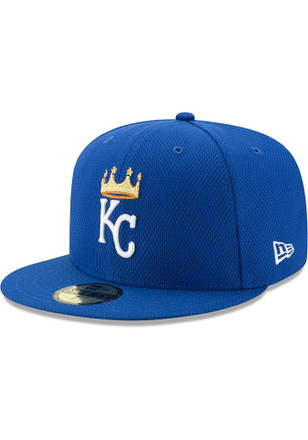 KC Royals New Era Mens Blue 2017 Diamond Era 59FIFTY Fitted Hat
