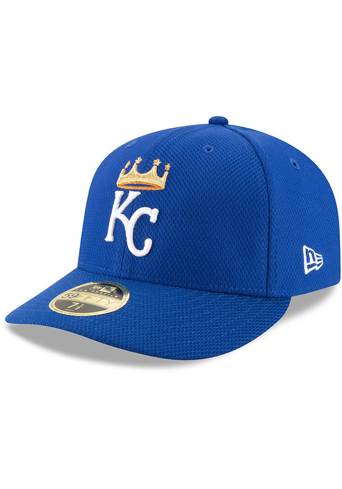 New Era Kansas City Royals Mens Blue 2017 Diamond Era LC 59FIFTY Fitted Hat - Image 1