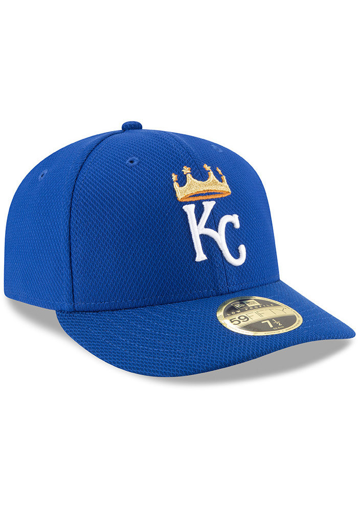 New Era Kansas City Royals Mens Blue 2017 Diamond Era LC 59FIFTY Fitted Hat - Image 2