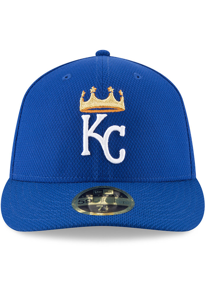 New Era Kansas City Royals Mens Blue 2017 Diamond Era LC 59FIFTY Fitted Hat - Image 3