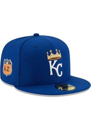 Kansas City Royals New Era Mens Blue 2017 Spring Training 59FIFTY Fitted Hat