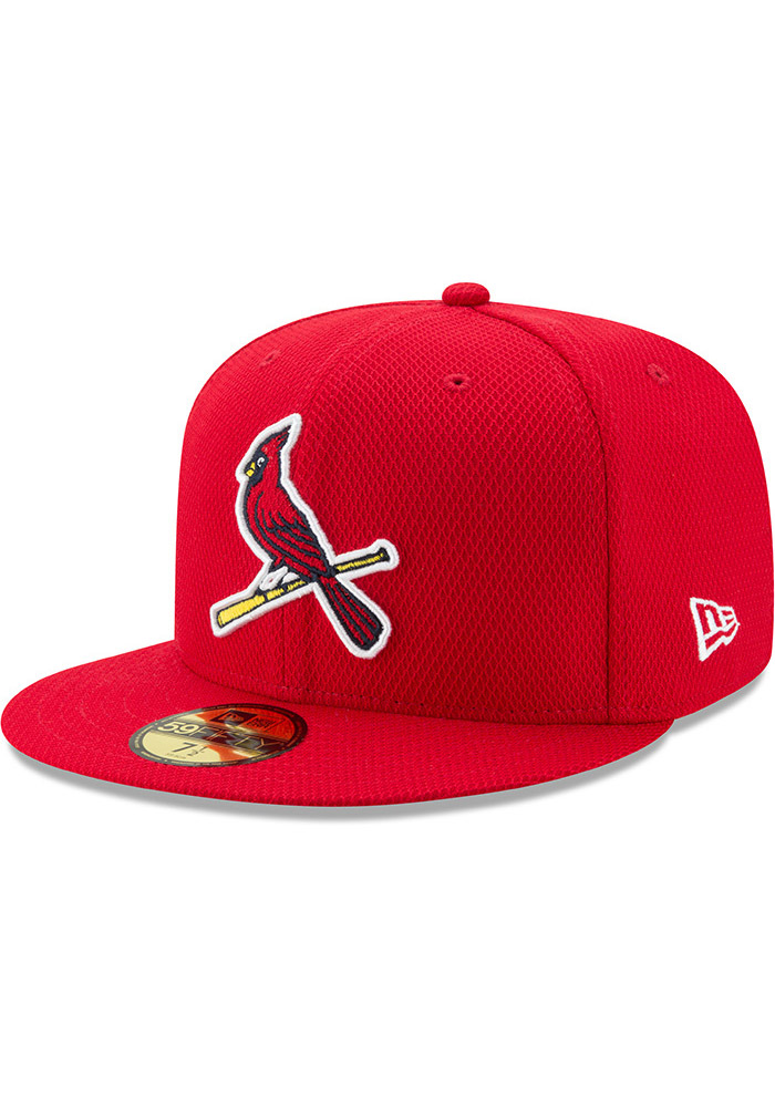 New Era St Louis Cardinals Mens Red 2017 Diamond Era 59FIFTY Fitted Hat - Image 1