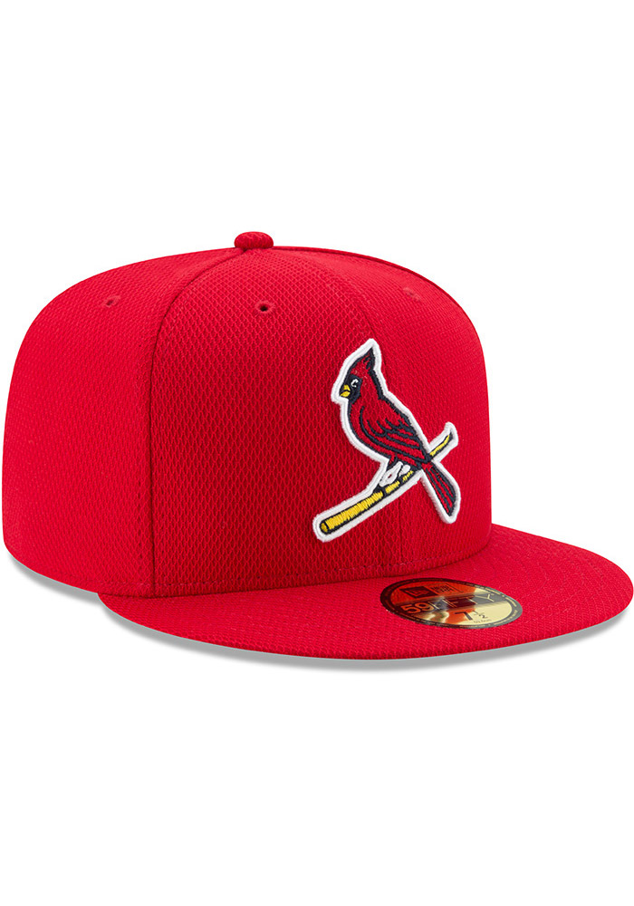 New Era St Louis Cardinals Mens Red 2017 Diamond Era 59FIFTY Fitted Hat - Image 2
