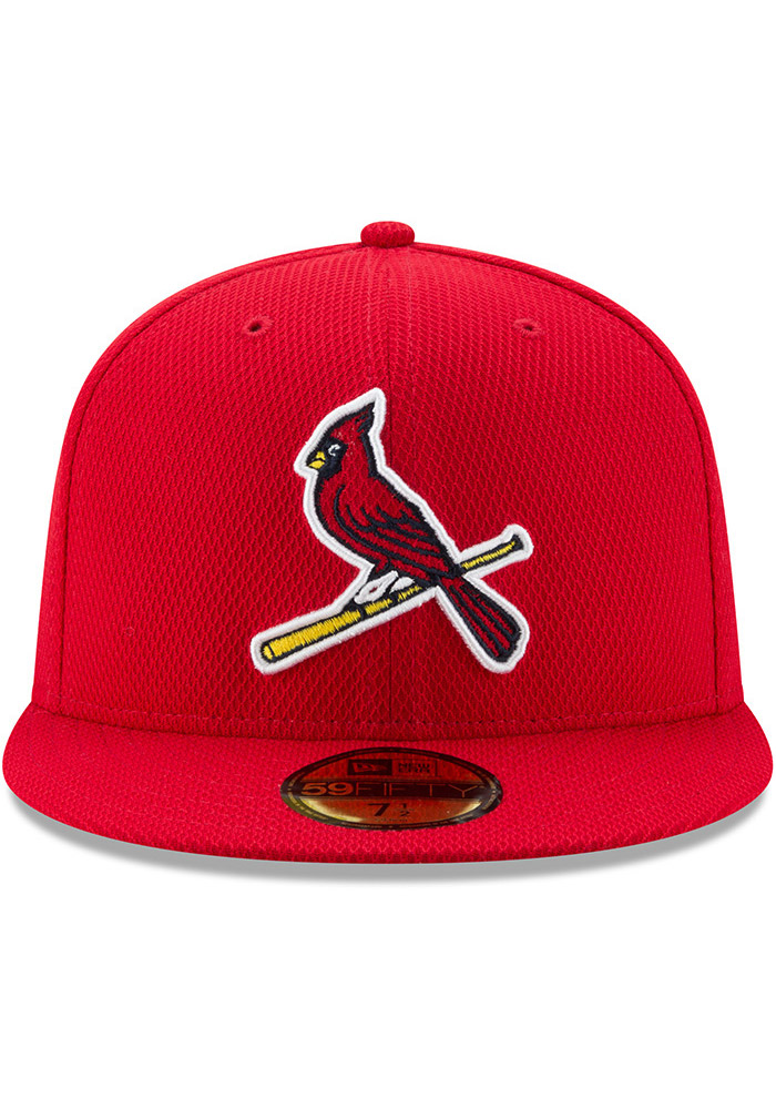 New Era St Louis Cardinals Mens Red 2017 Diamond Era 59FIFTY Fitted Hat - Image 3
