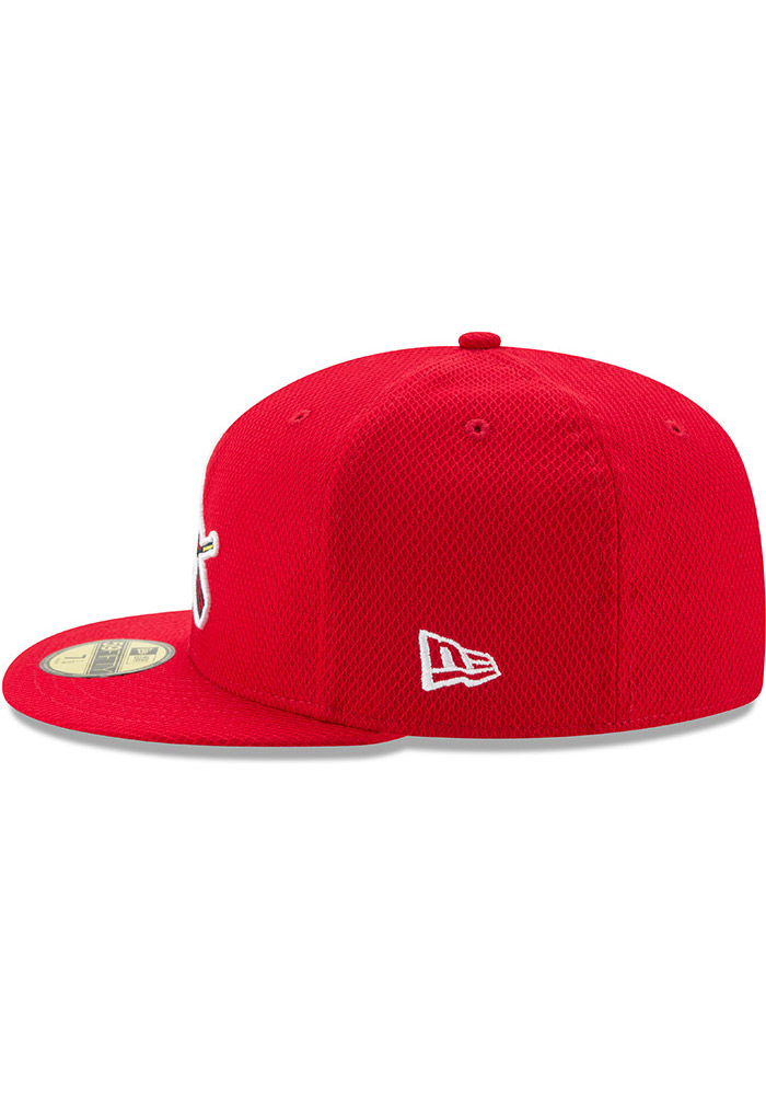 New Era St Louis Cardinals Mens Red 2017 Diamond Era 59FIFTY Fitted Hat - Image 4