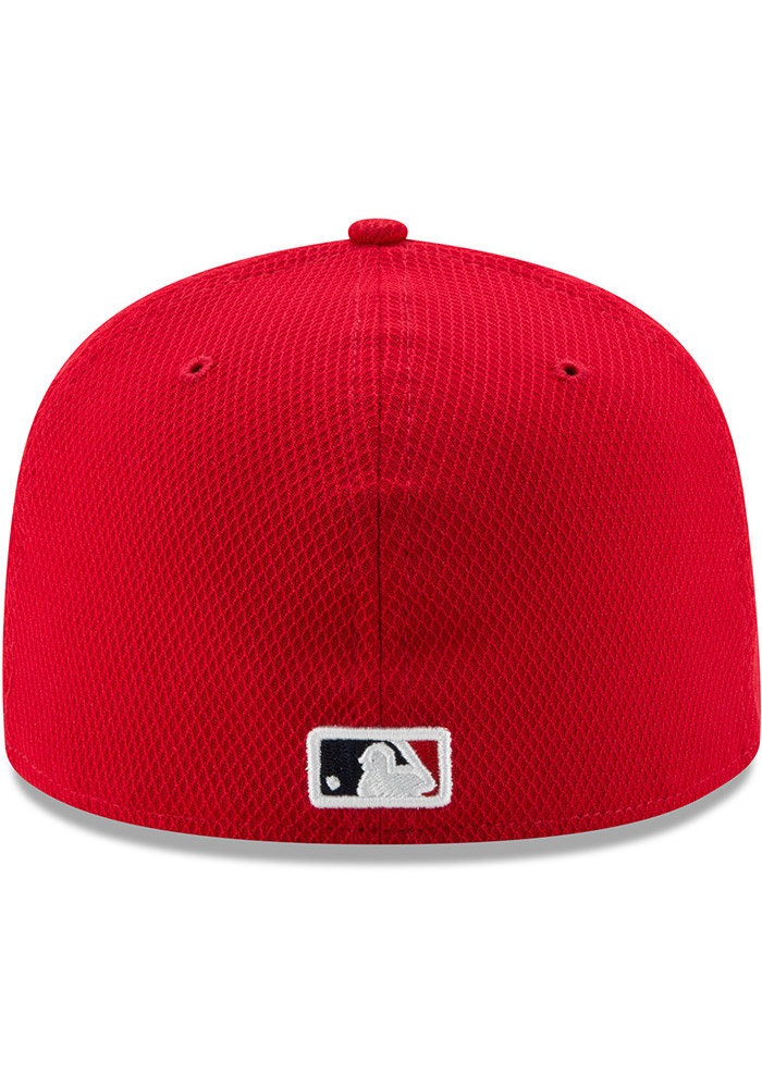 New Era St Louis Cardinals Mens Red 2017 Diamond Era 59FIFTY Fitted Hat - Image 5