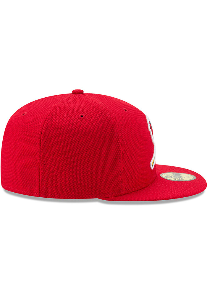 New Era St Louis Cardinals Mens Red 2017 Diamond Era 59FIFTY Fitted Hat - Image 6