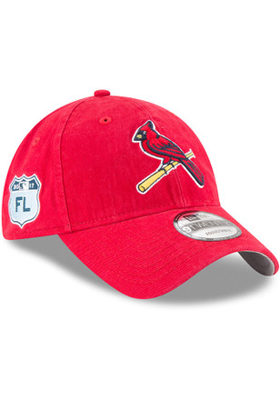 New Era St Louis Cardinals Mens Red 2017 Spring Training 9FORTY Adjustable Hat