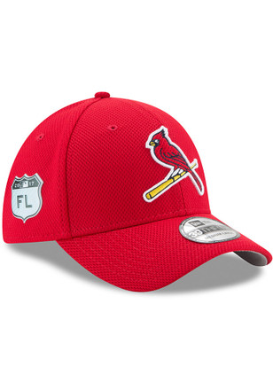 New Era St Louis Cardinals Mens Red 2017 Spring Training 39THIRTY Flex Hat