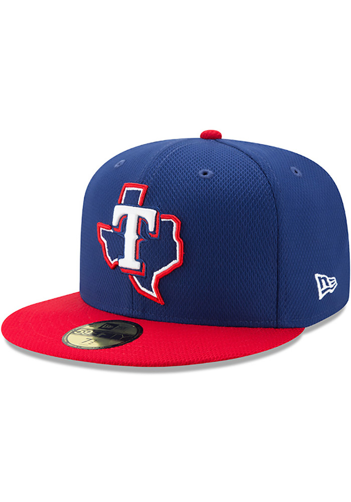 New Era Texas Rangers Blue 2017 Diamond Era 59FIFTY Youth Fitted Hat - Image 1