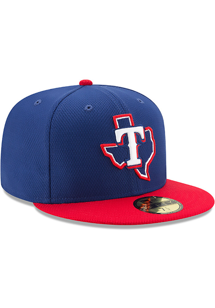 New Era Texas Rangers Blue 2017 Diamond Era 59FIFTY Youth Fitted Hat - Image 2