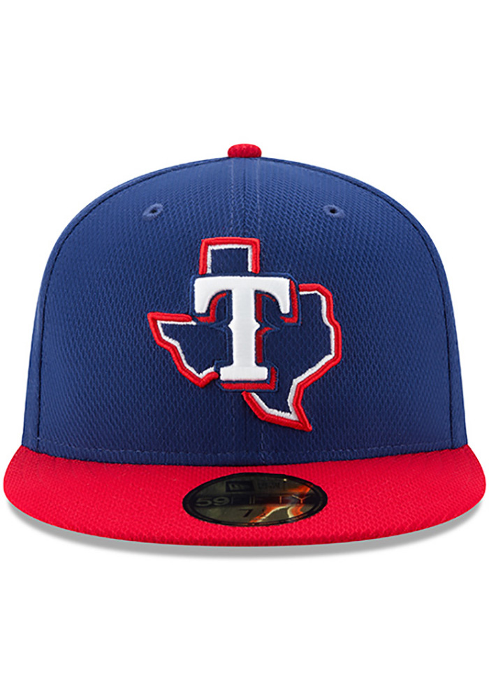New Era Texas Rangers Blue 2017 Diamond Era 59FIFTY Youth Fitted Hat - Image 3