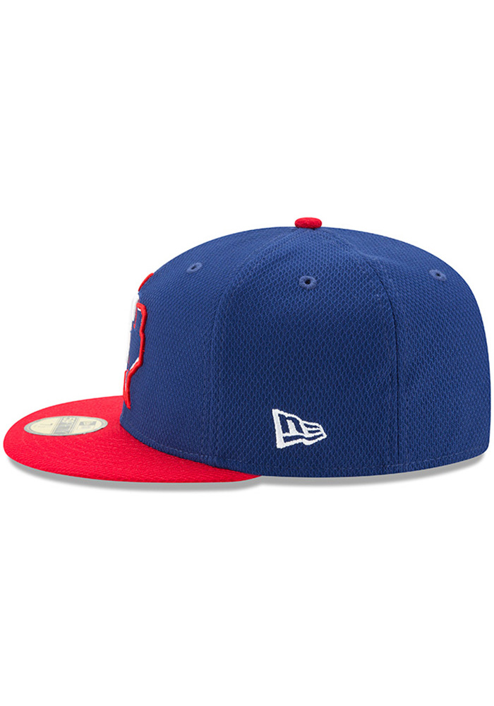 New Era Texas Rangers Blue 2017 Diamond Era 59FIFTY Youth Fitted Hat - Image 4
