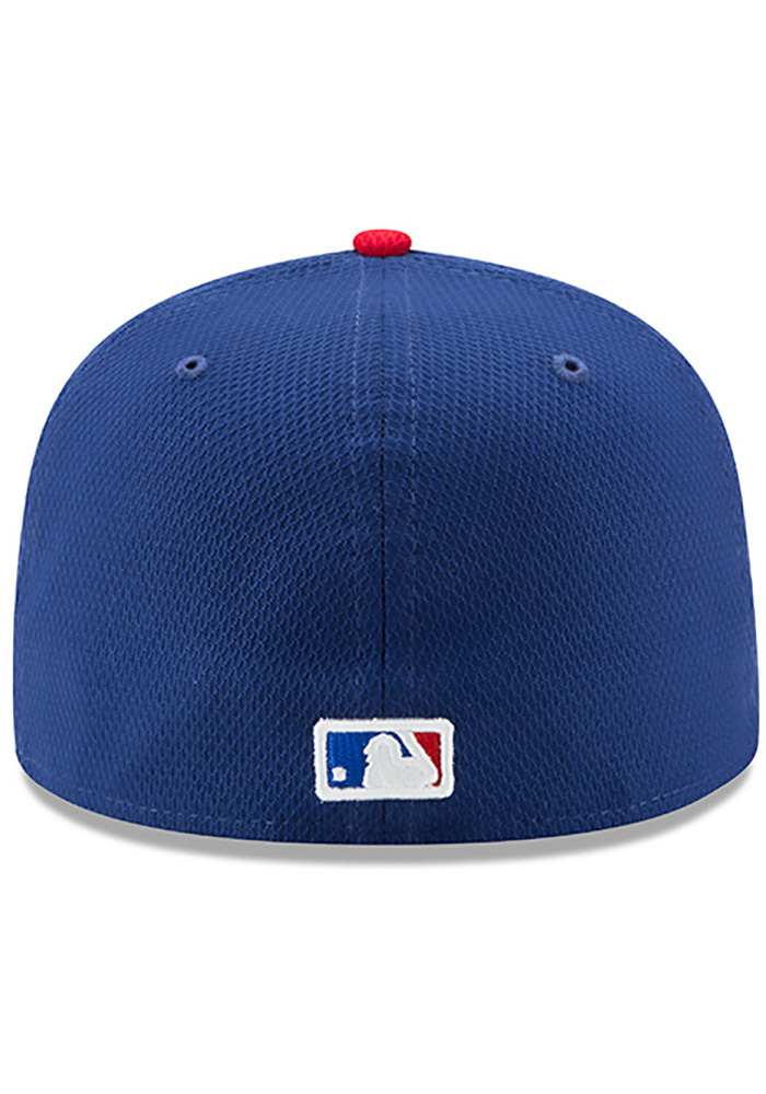 New Era Texas Rangers Blue 2017 Diamond Era 59FIFTY Youth Fitted Hat - Image 5
