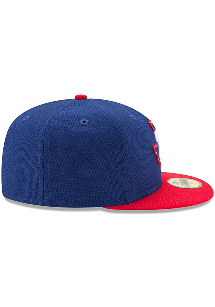 New Era Texas Rangers Blue 2017 Diamond Era 59FIFTY Youth Fitted Hat - Image 6