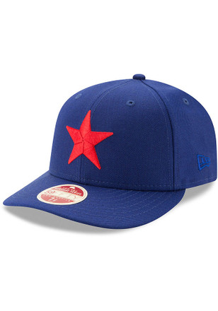 Detroit Stars New Era Mens Blue Dual 59FIFTY Fitted Hat