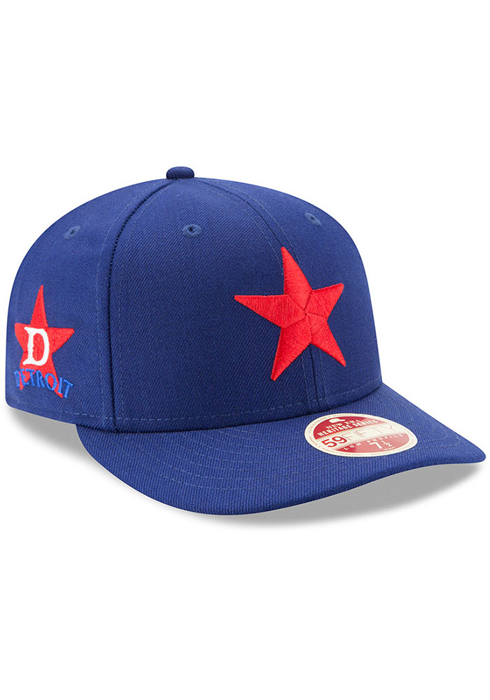 New Era Detroit Stars Mens Blue Dual 59FIFTY Fitted Hat - Image 2