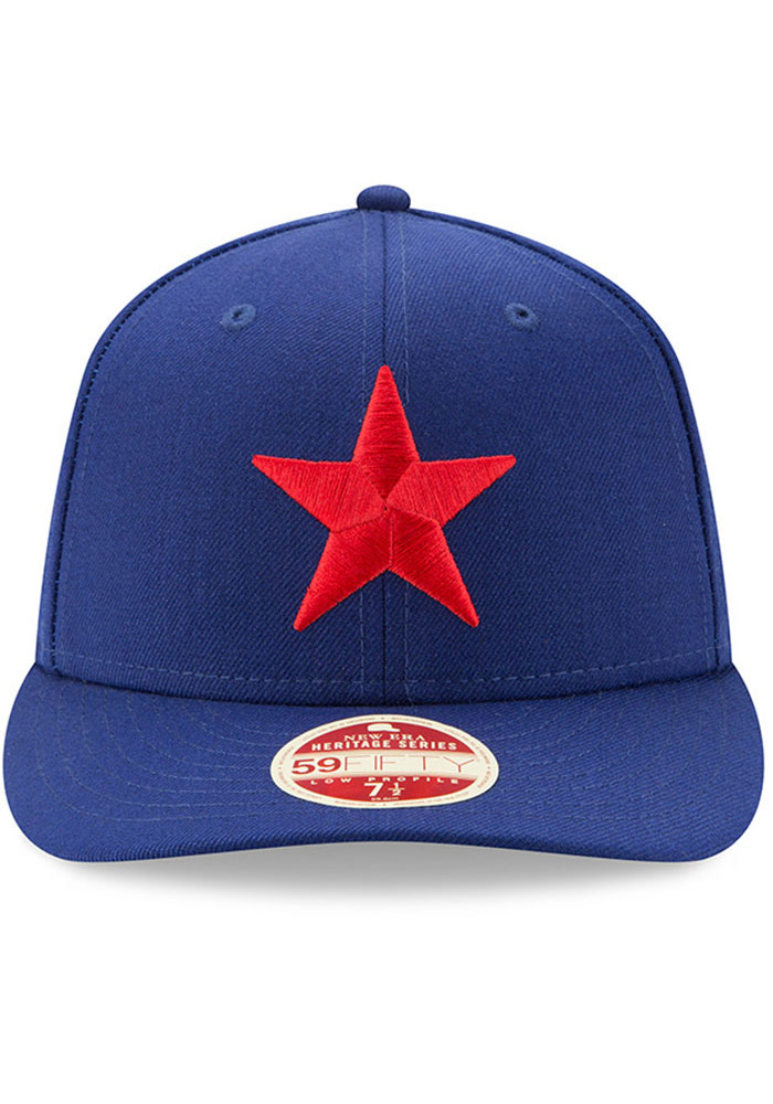 New Era Detroit Stars Mens Blue Dual 59FIFTY Fitted Hat - Image 3