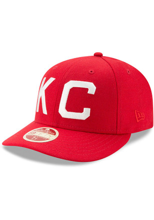 Kansas City Monarchs New Era Mens Red Dual 59FIFTY Fitted Hat