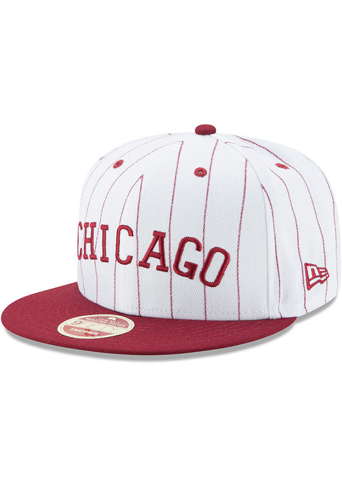 New Era Chicago American Giants White Striped Jerz 9FIFTY Mens Snapback Hat - Image 1