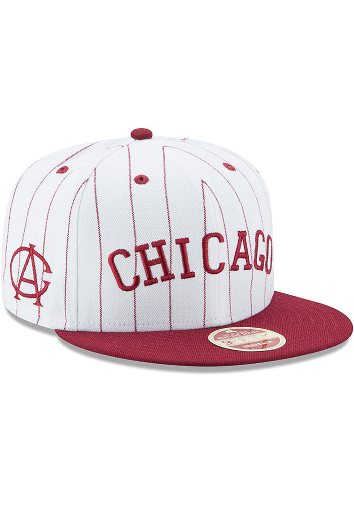New Era Chicago American Giants White Striped Jerz 9FIFTY Mens Snapback Hat - Image 2