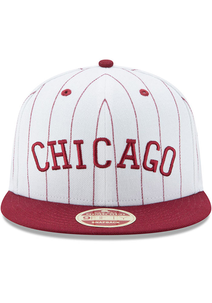 New Era Chicago American Giants White Striped Jerz 9FIFTY Mens Snapback Hat - Image 3