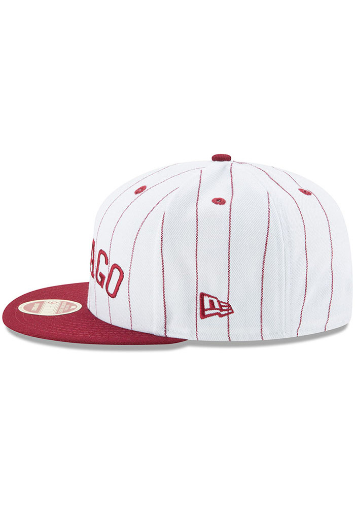 New Era Chicago American Giants White Striped Jerz 9FIFTY Mens Snapback Hat - Image 4