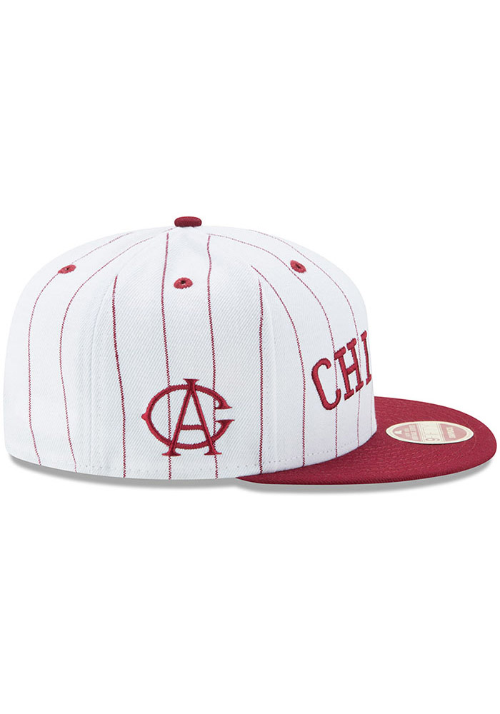 New Era Chicago American Giants Brown Striped Jerz 9FIFTY Mens Snapback Hat - Image 6