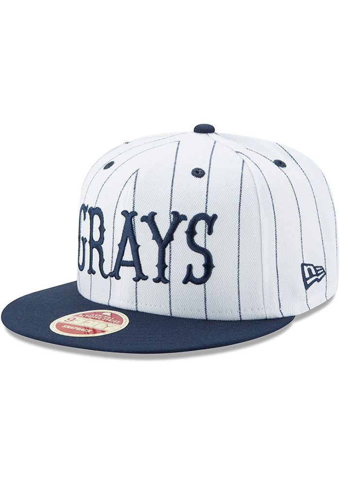 New Era Homestead Grays Brown Striped Jerz 9FIFTY Mens Snapback Hat - Image 1
