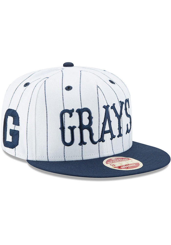 New Era Homestead Grays Brown Striped Jerz 9FIFTY Mens Snapback Hat - Image 2