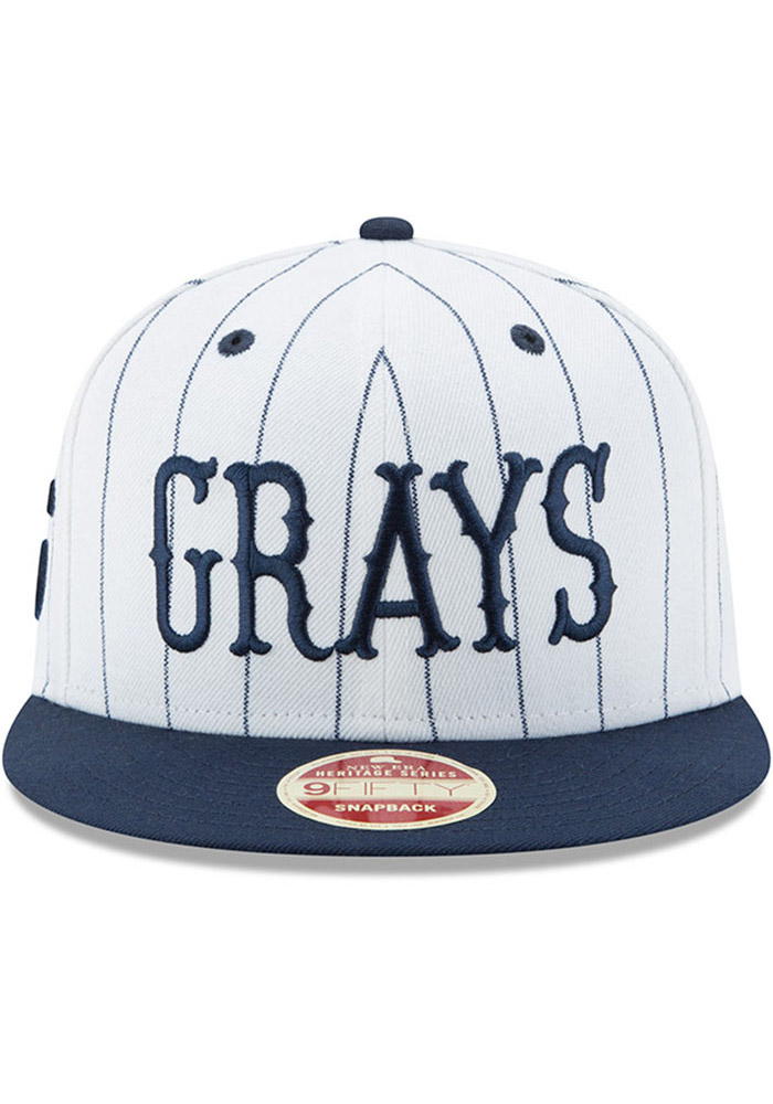 New Era Homestead Grays Brown Striped Jerz 9FIFTY Mens Snapback Hat - Image 3