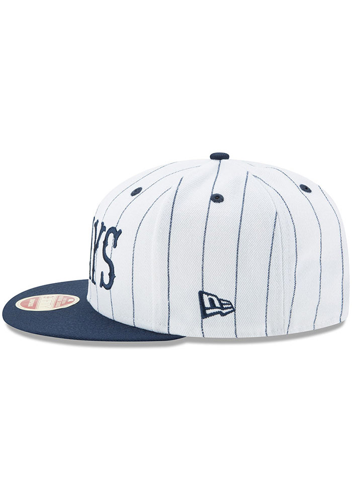 New Era Homestead Grays Brown Striped Jerz 9FIFTY Mens Snapback Hat - Image 4