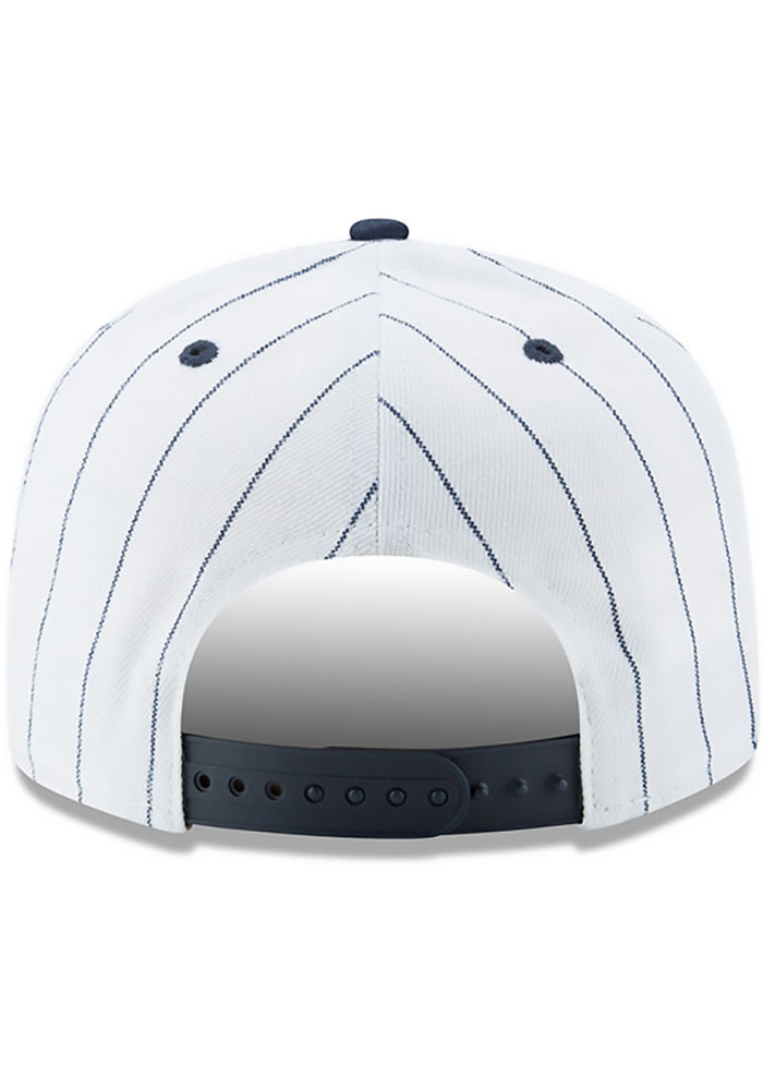 New Era Homestead Grays Brown Striped Jerz 9FIFTY Mens Snapback Hat - Image 5