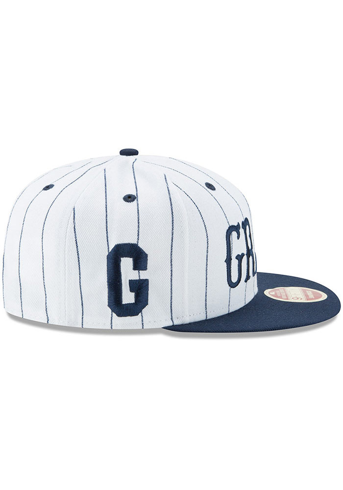 New Era Homestead Grays Brown Striped Jerz 9FIFTY Mens Snapback Hat - Image 6