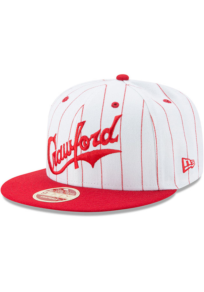 New Era Pittsburgh Crawfords White Striped Jerz 9FIFTY Mens Snapback Hat - Image 1