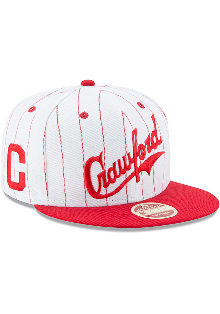 New Era Pittsburgh Crawfords White Striped Jerz 9FIFTY Mens Snapback Hat - Image 2