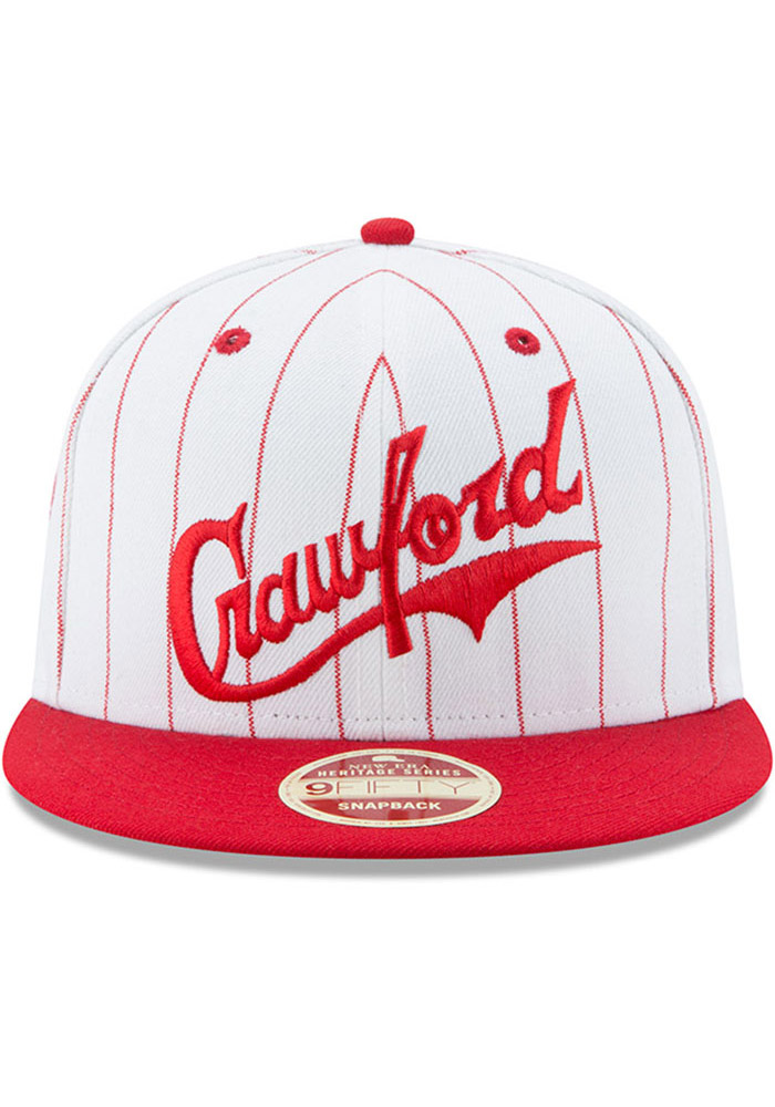 New Era Pittsburgh Crawfords White Striped Jerz 9FIFTY Mens Snapback Hat - Image 3