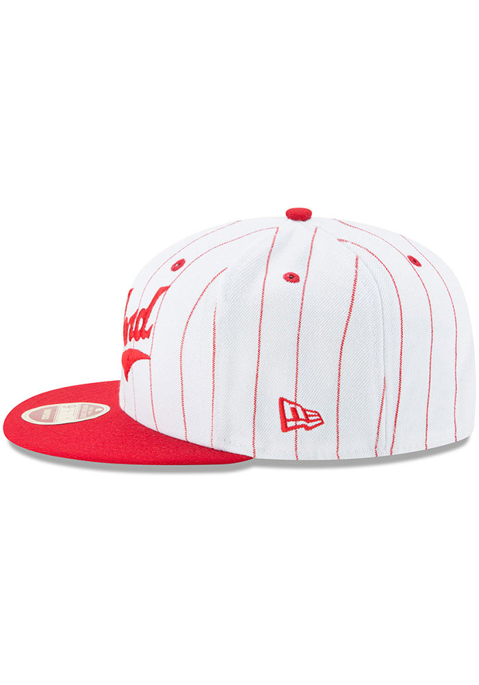 New Era Pittsburgh Crawfords White Striped Jerz 9FIFTY Mens Snapback Hat - Image 4