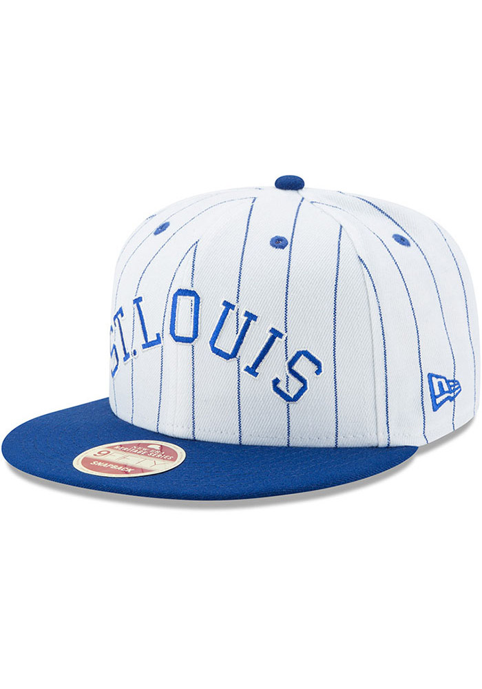 New Era St Louis Stars White Striped Jerz 9FIFTY Mens Snapback Hat - Image 1