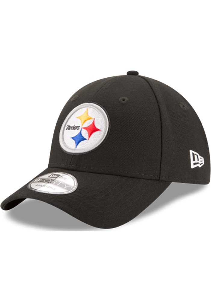 New Era Pittsburgh Steelers Mens Black The League 9FORTY Adjustable Hat - Image 1