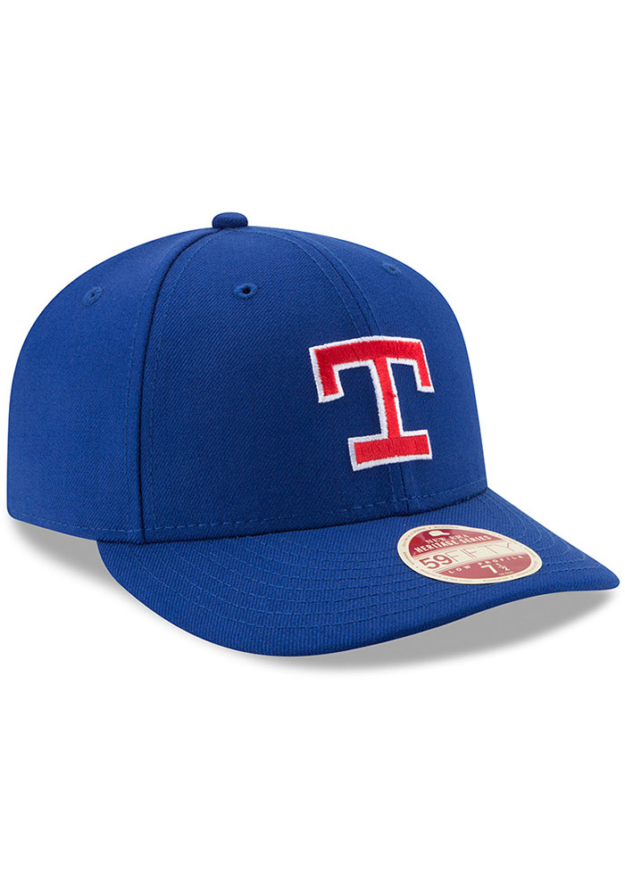 New Era Texas Rangers Mens Blue Vintage 59FIFTY Fitted Hat - Image 2
