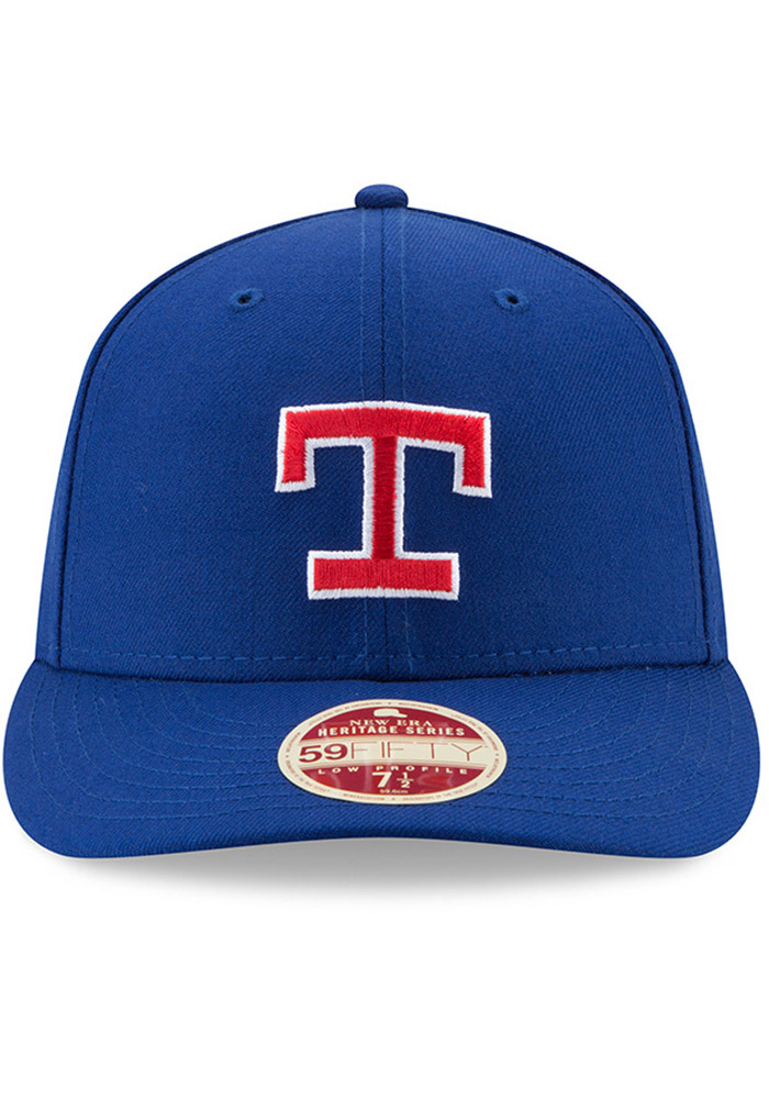 New Era Texas Rangers Mens Blue Vintage 59FIFTY Fitted Hat - Image 3