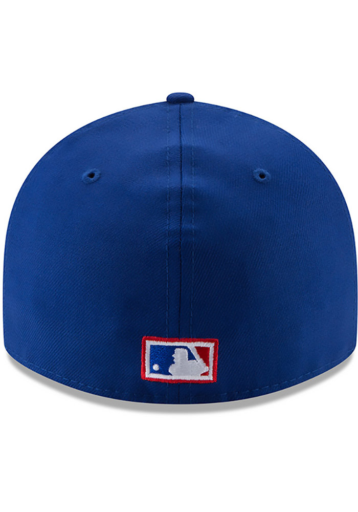New Era Texas Rangers Mens Blue Vintage 59FIFTY Fitted Hat - Image 5
